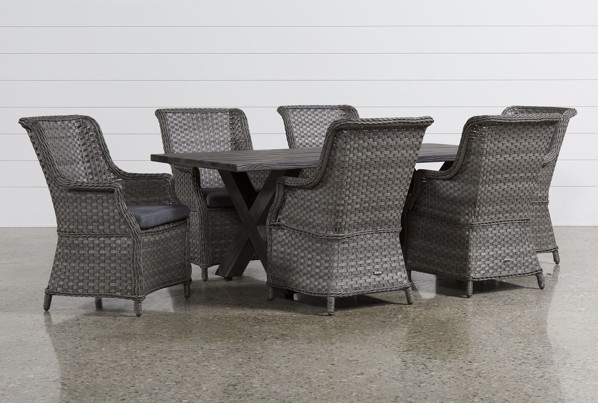 piece rectangle outdoor dining set w san martin chairs living spaces