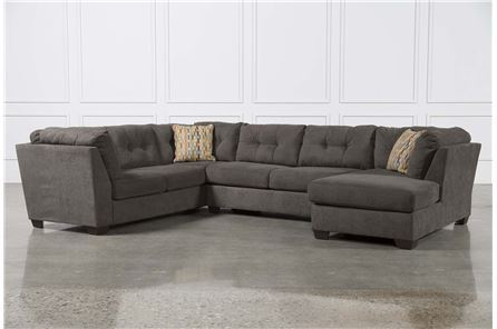 Delta City Steel 3 Piece Sectional W/Raf Chaise - Main