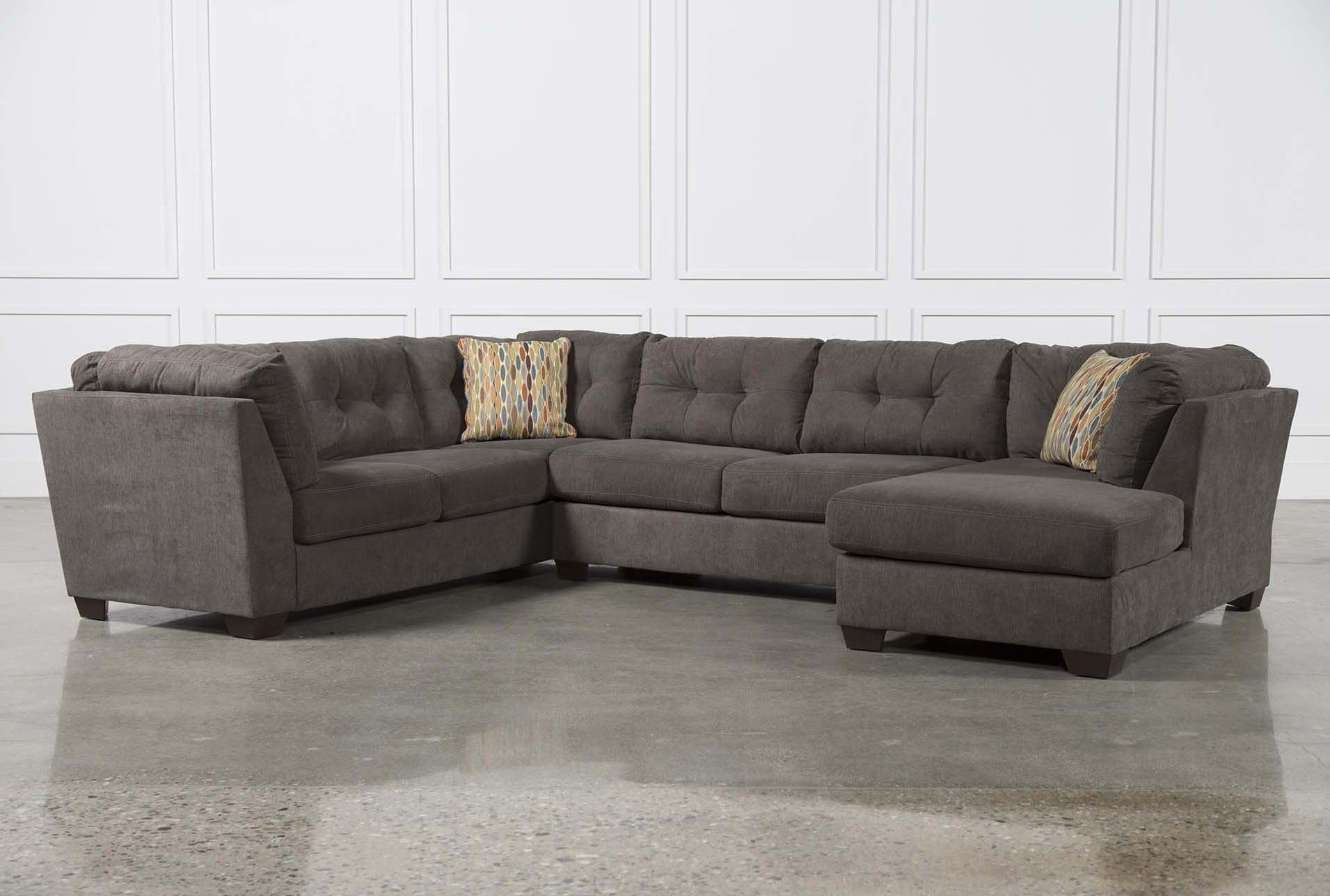 Delta City Steel 3 Piece Sectional W Raf Chaise Living