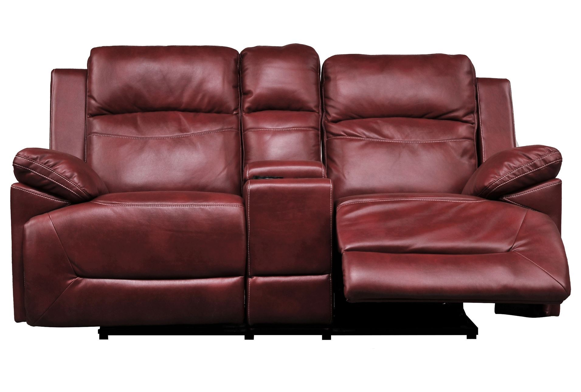 Bryson Power Reclining Glider Loveseat W Console Living Spaces