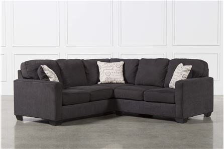 Alenya Charcoal 2 Piece Sectional W/Raf Loveseat - Main