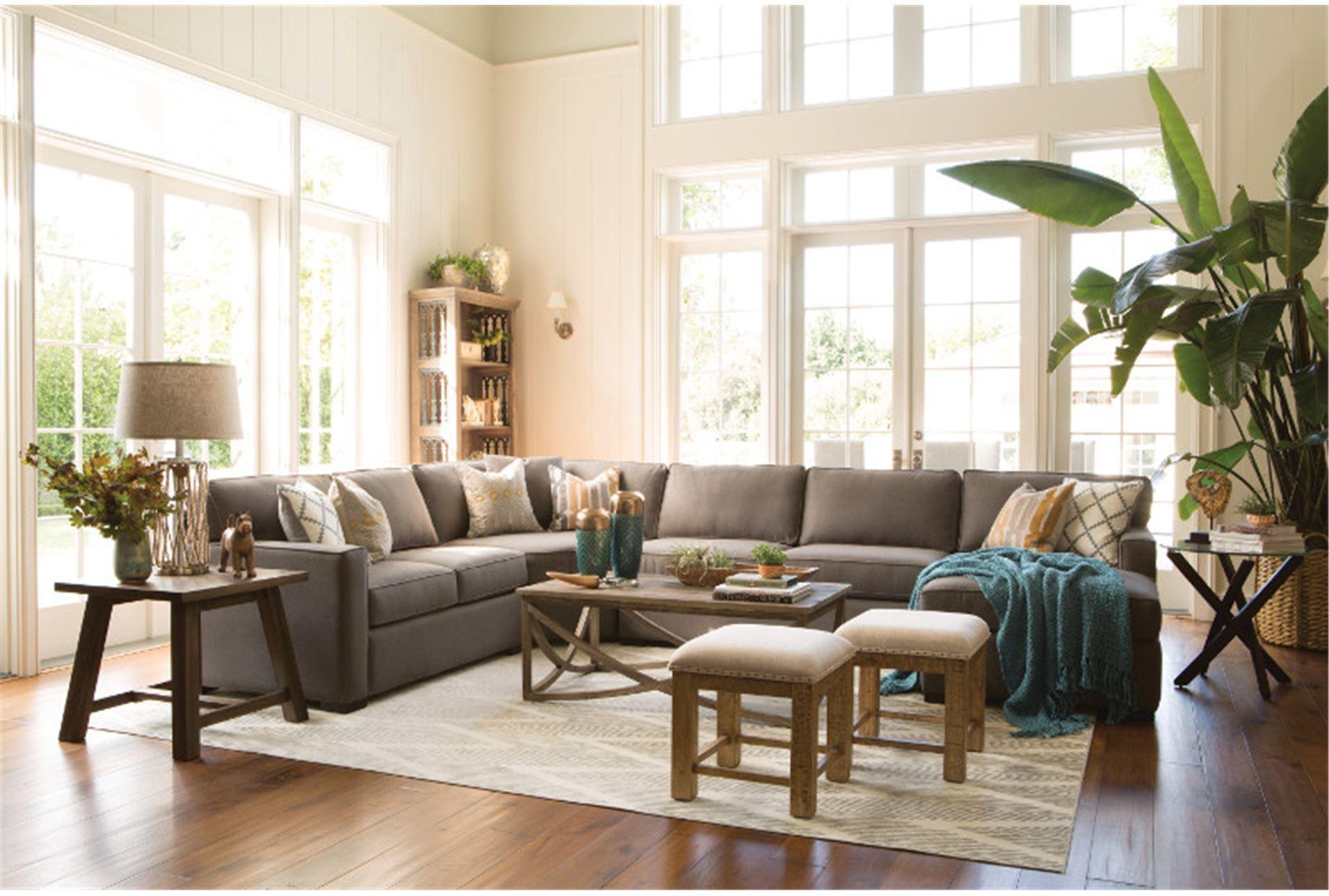 93X128 Rug Fordham Grey Chevron Living Spaces