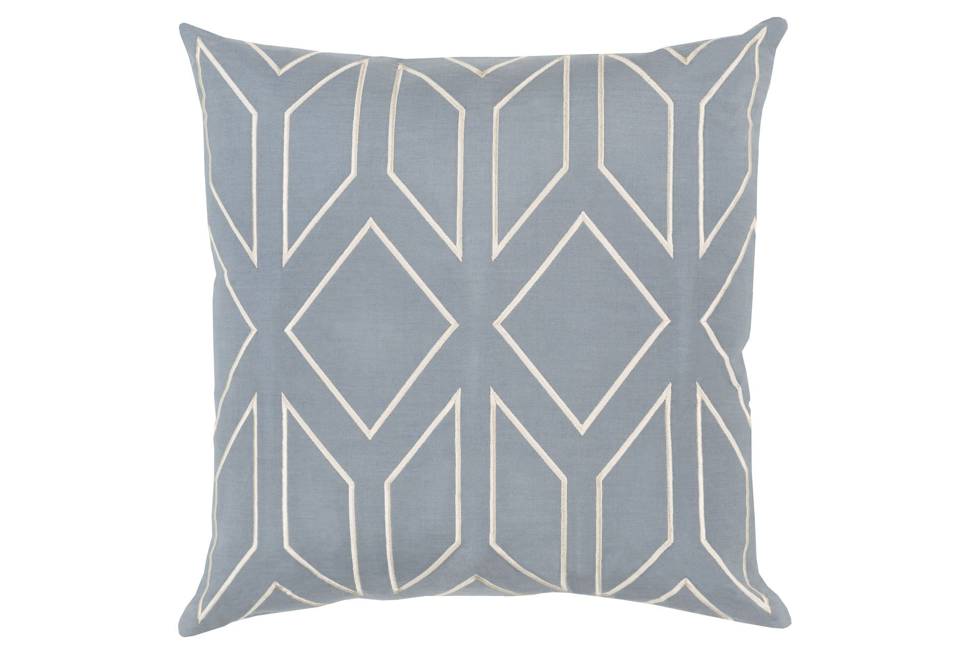 Dusty Blue Decorative Pillows : Accent Pillow-Nora Dusty Blue 18X18 - Living Spaces