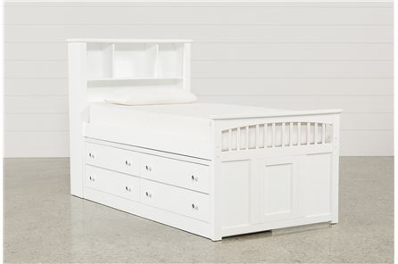 Bayfront Twin Captains Bed W/Double 4-Drawer Unit - Main