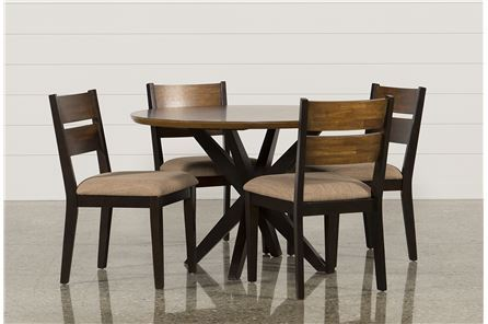 Spencer 5 Piece Round Dining Set W/Wood Chairs - Main