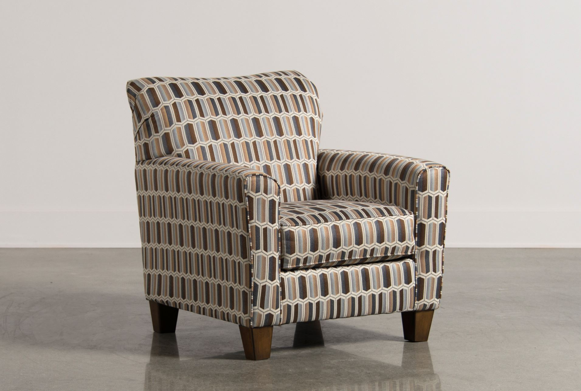 Living Spaces Accent Chairs : Janley Nugat Accent Chair - Living Spaces