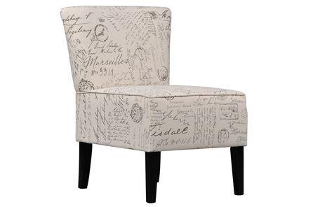 Ravity Script Accent Chair Signature