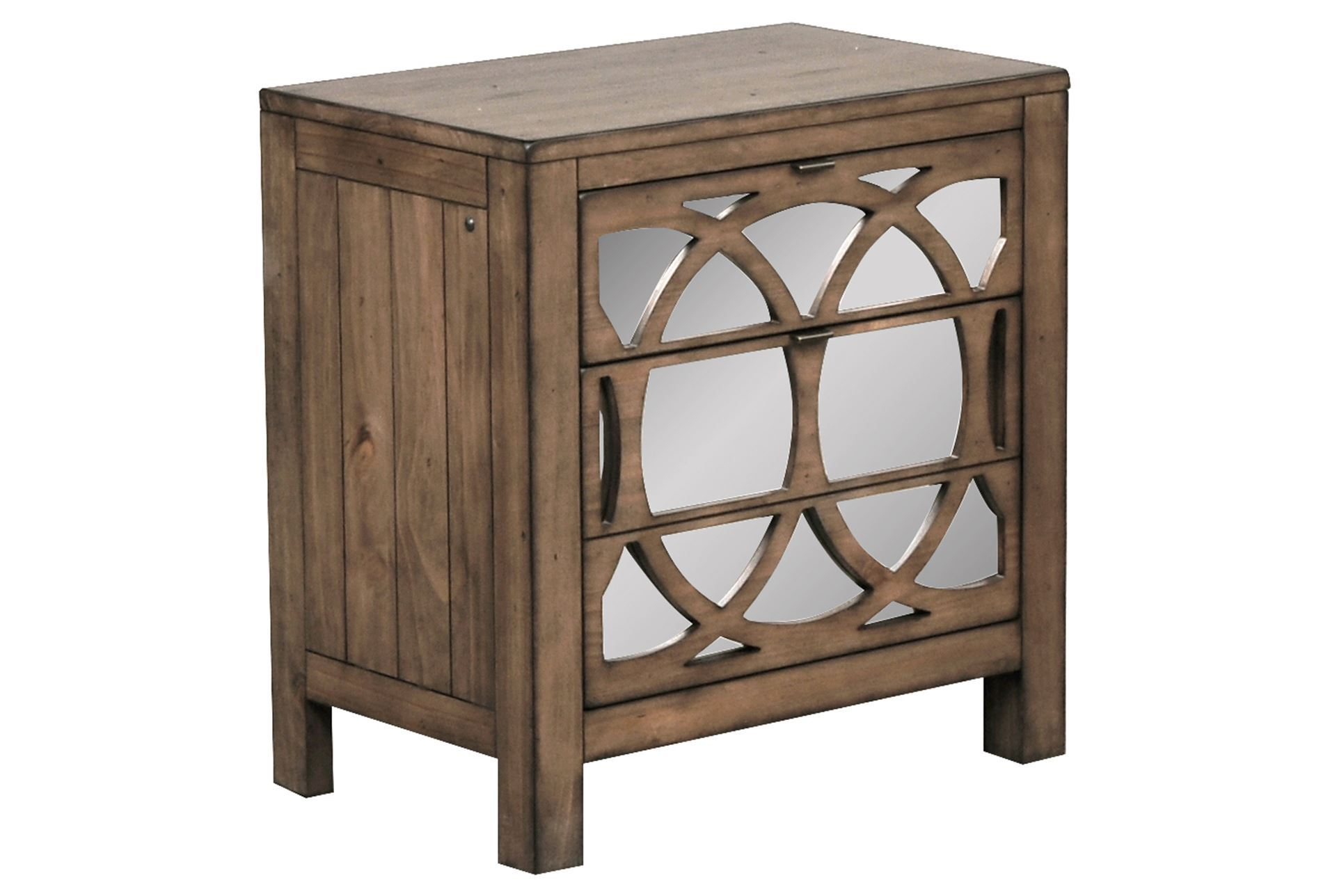Brooke Mirrored Nightstand Living Spaces