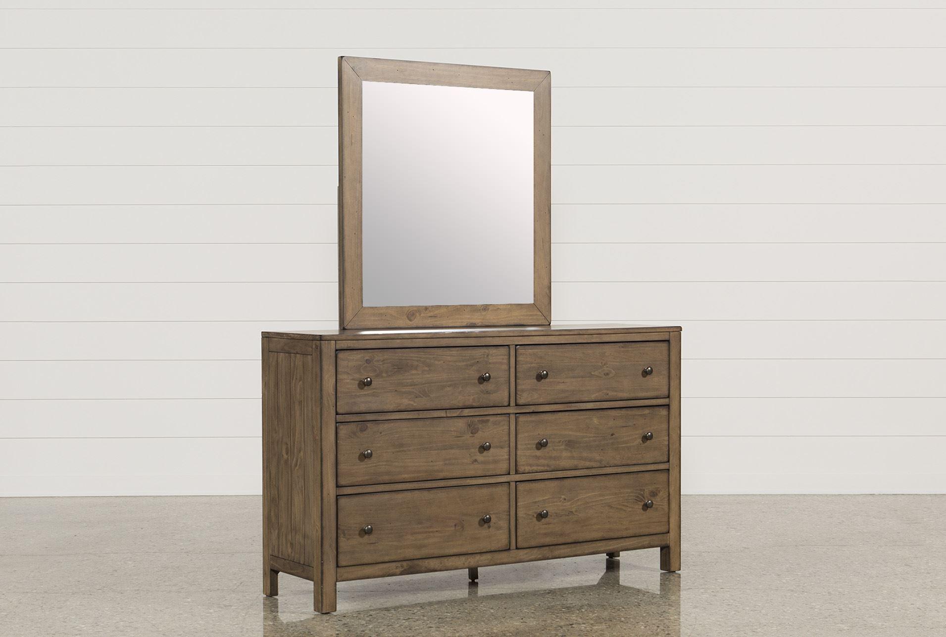 Brooke Dresser Mirror Living Spaces