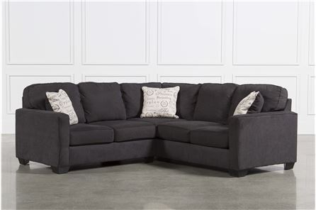 Alenya Charcoal 2 Piece Sectional W/Laf Loveseat - Main