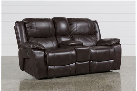Sampson Power Reclining Loveseat W/Console - Main