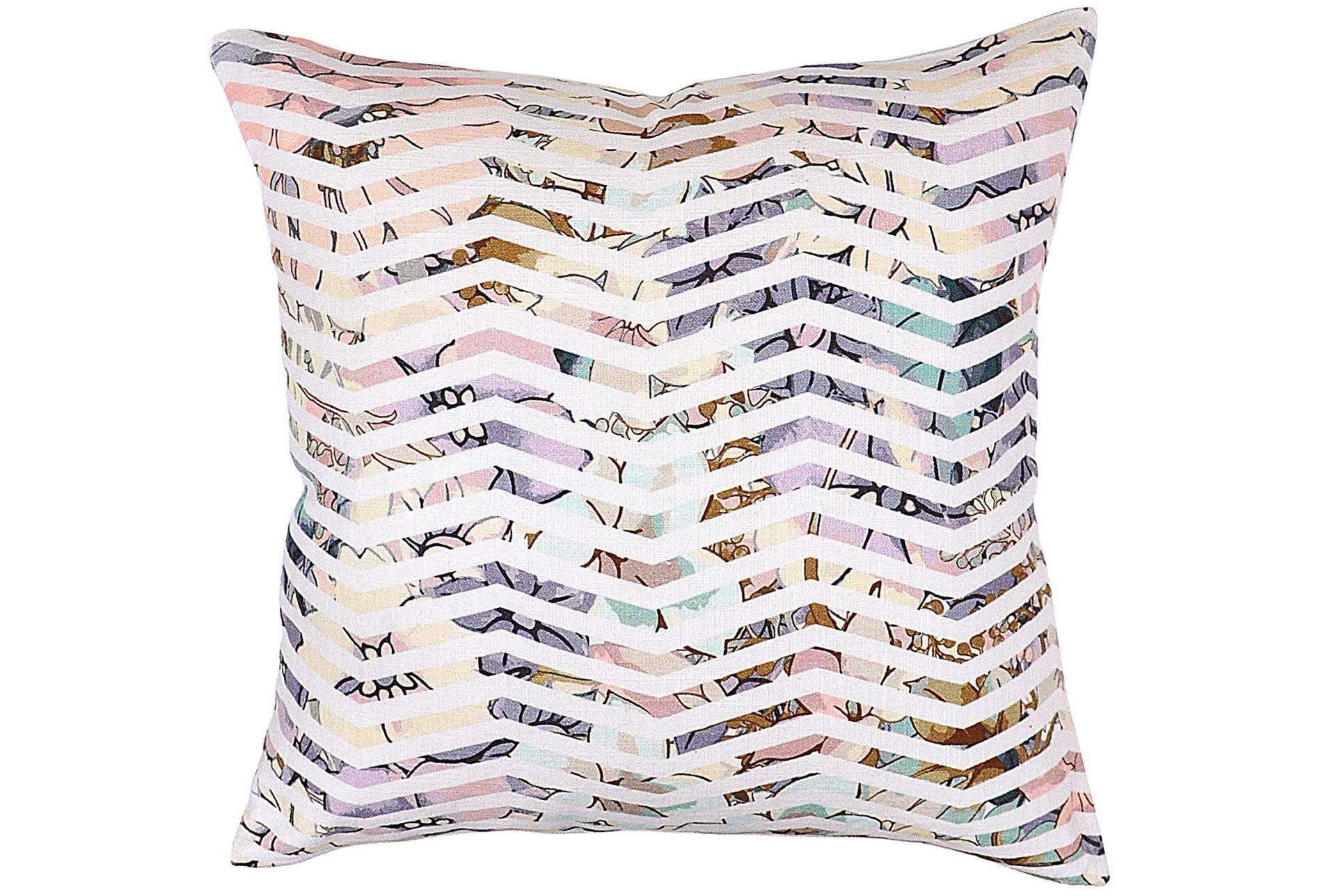 Decorative Pillows Living Spaces : Accent Pillow-Jude Floral Chevron 22X22 - Living Spaces