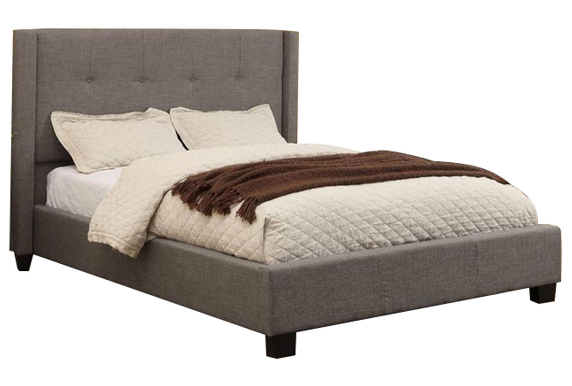 damon ii eastern king upholstered platform bed living spaces. Black Bedroom Furniture Sets. Home Design Ideas