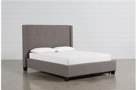 Damon II Full Upholstered Platform Bed - Main