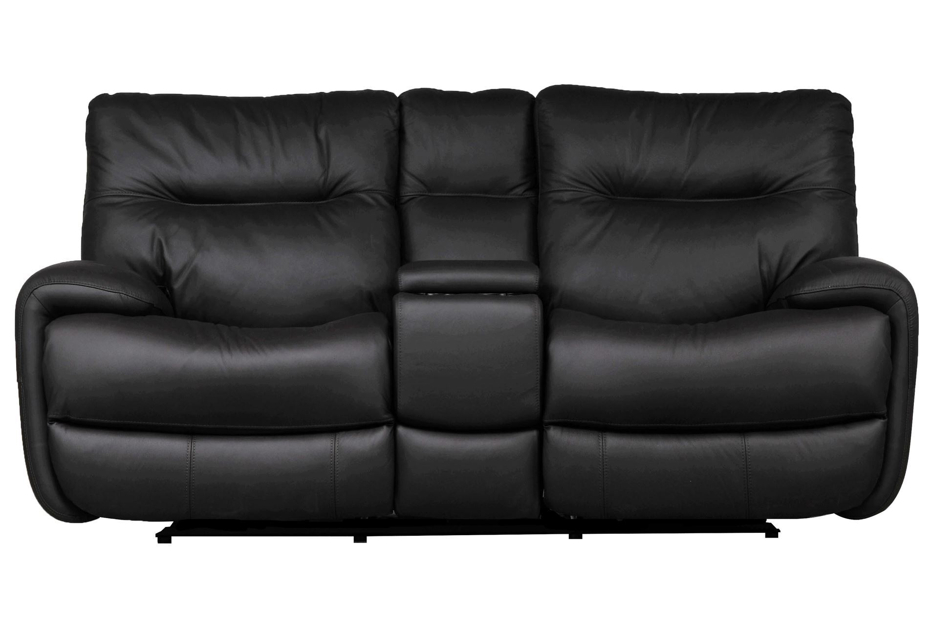 Oliver Graphite Power Reclining Loveseat W Console Living Spaces