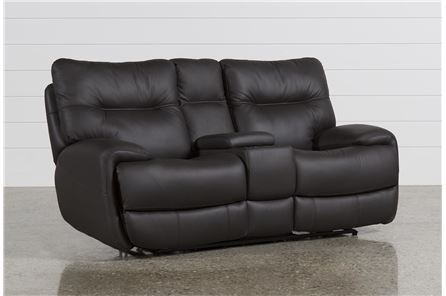 Oliver Graphite Power Reclining Loveseat W/Console - Main