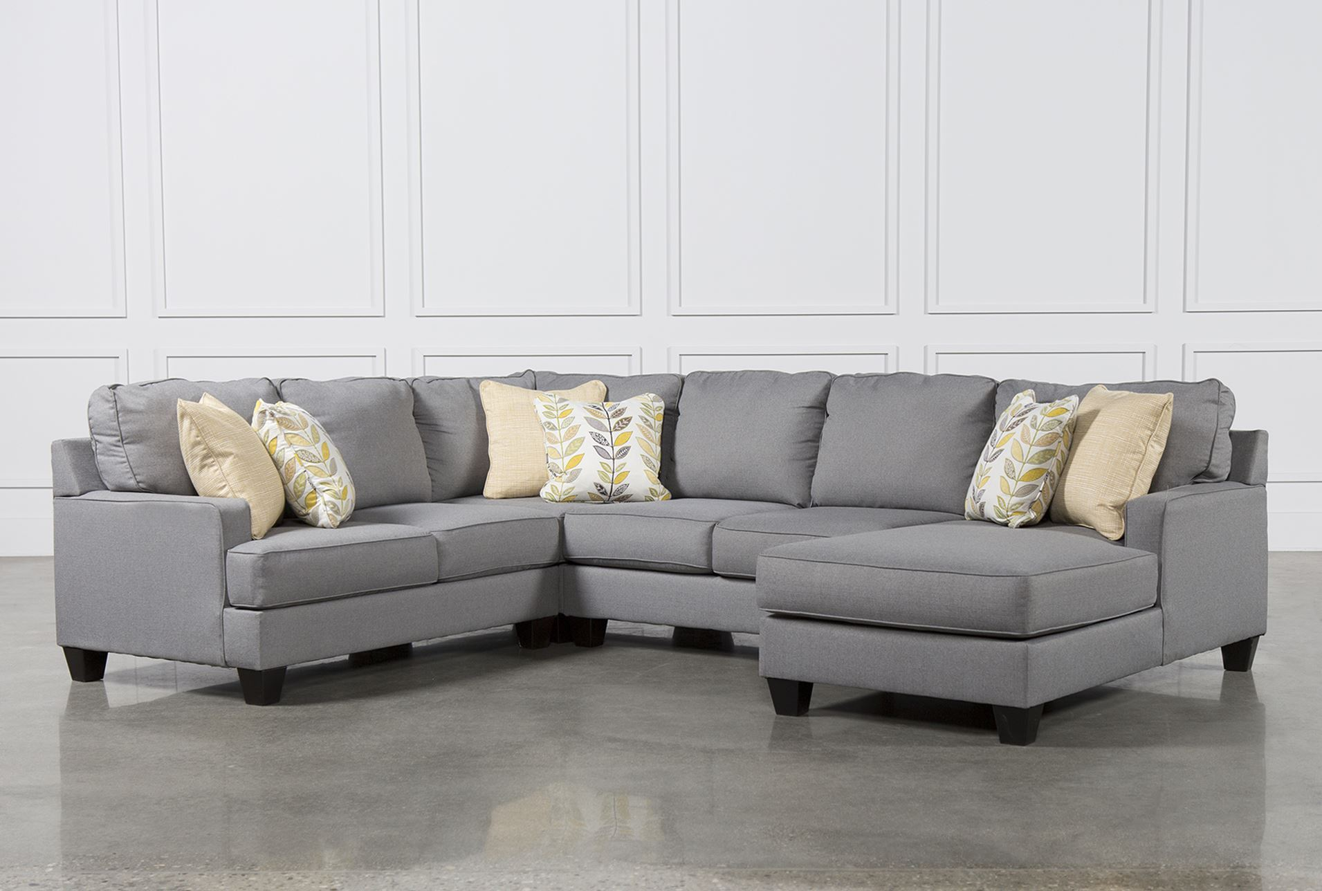 Chamberly 4 piece sectional w raf chaise living spaces for 4 piece sectional sofa with chaise