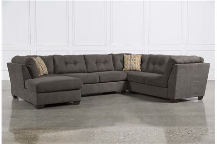 Delta City Steel 3 Piece Sectional W/Sleeper & Left Facing Chaise - Main