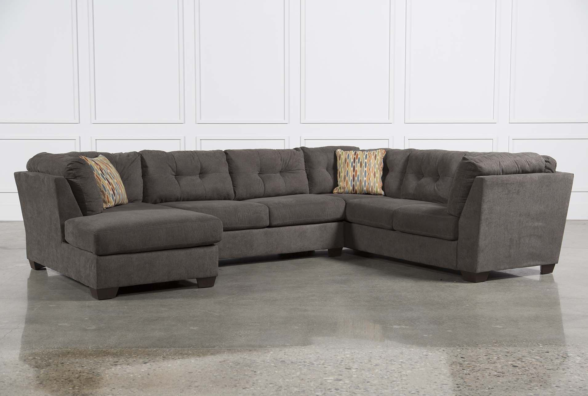 Delta city steel 3 piece sectional w sleeper left facing for Andrea 2 piece sleeper chaise