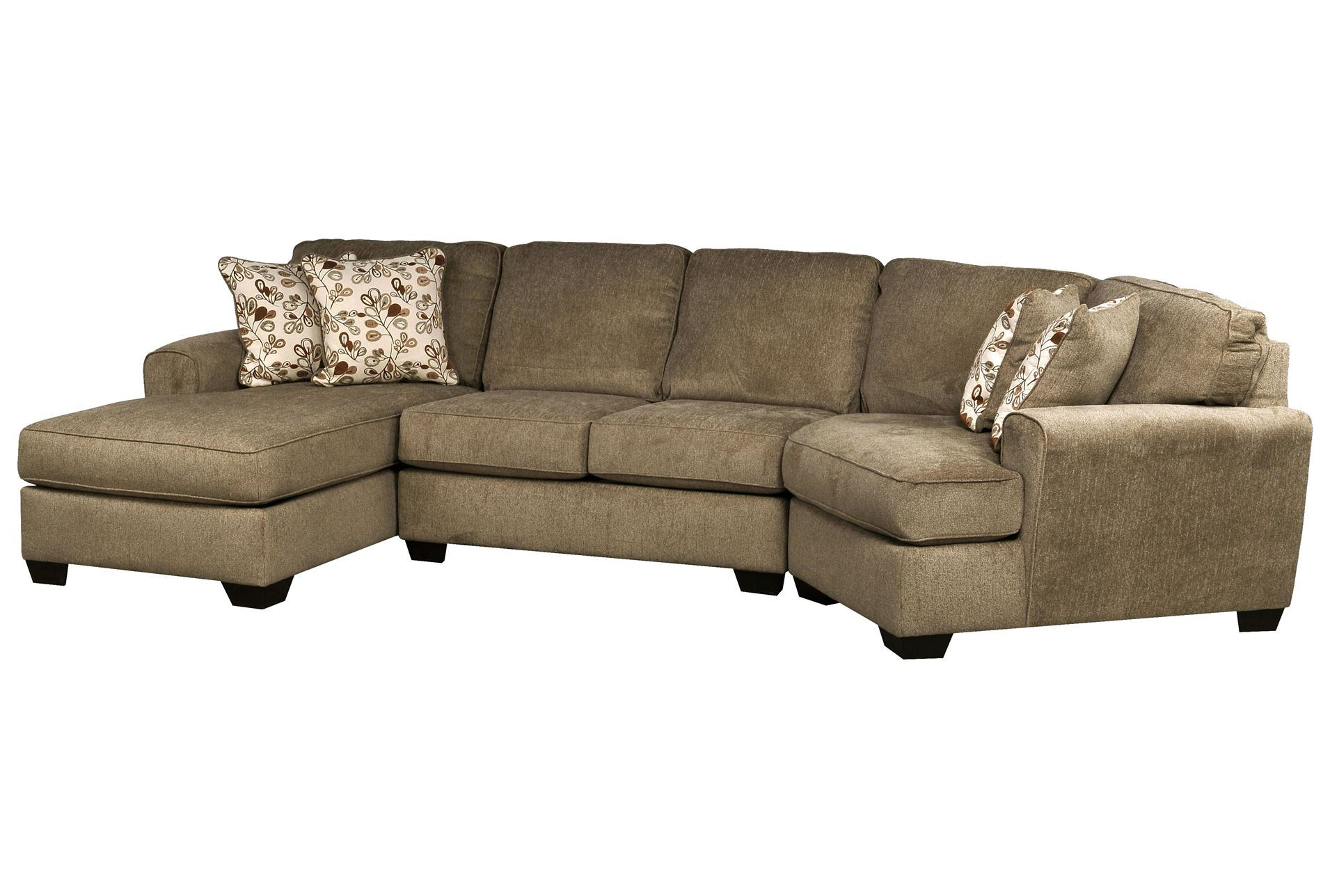 Patola Park 3 Piece Cuddler Sectional W/Laf Corner Chaise ...