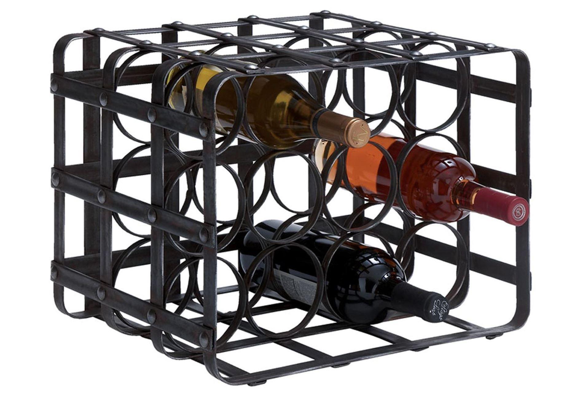 Metal Wine Racks ~ Inch metal wine rack living spaces