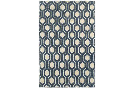 96X120 Indigo Honeycomb