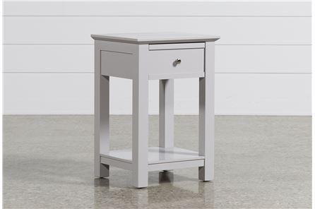 Bayside Grey 1-Drawer Nightstand - Main