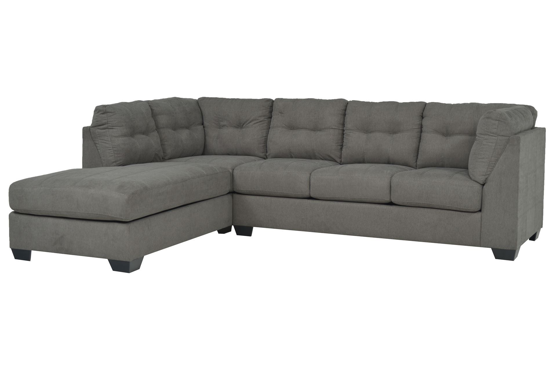 Maier charcoal 2 piece sectional w laf chaise signature for 2 piece chaise sectional