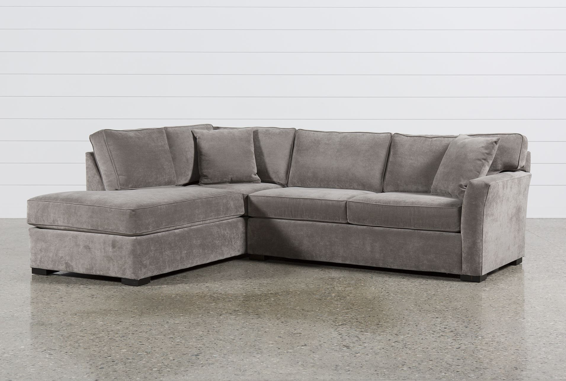 Aspen 2 piece sectional w sleeper living spaces for L shaped couch name