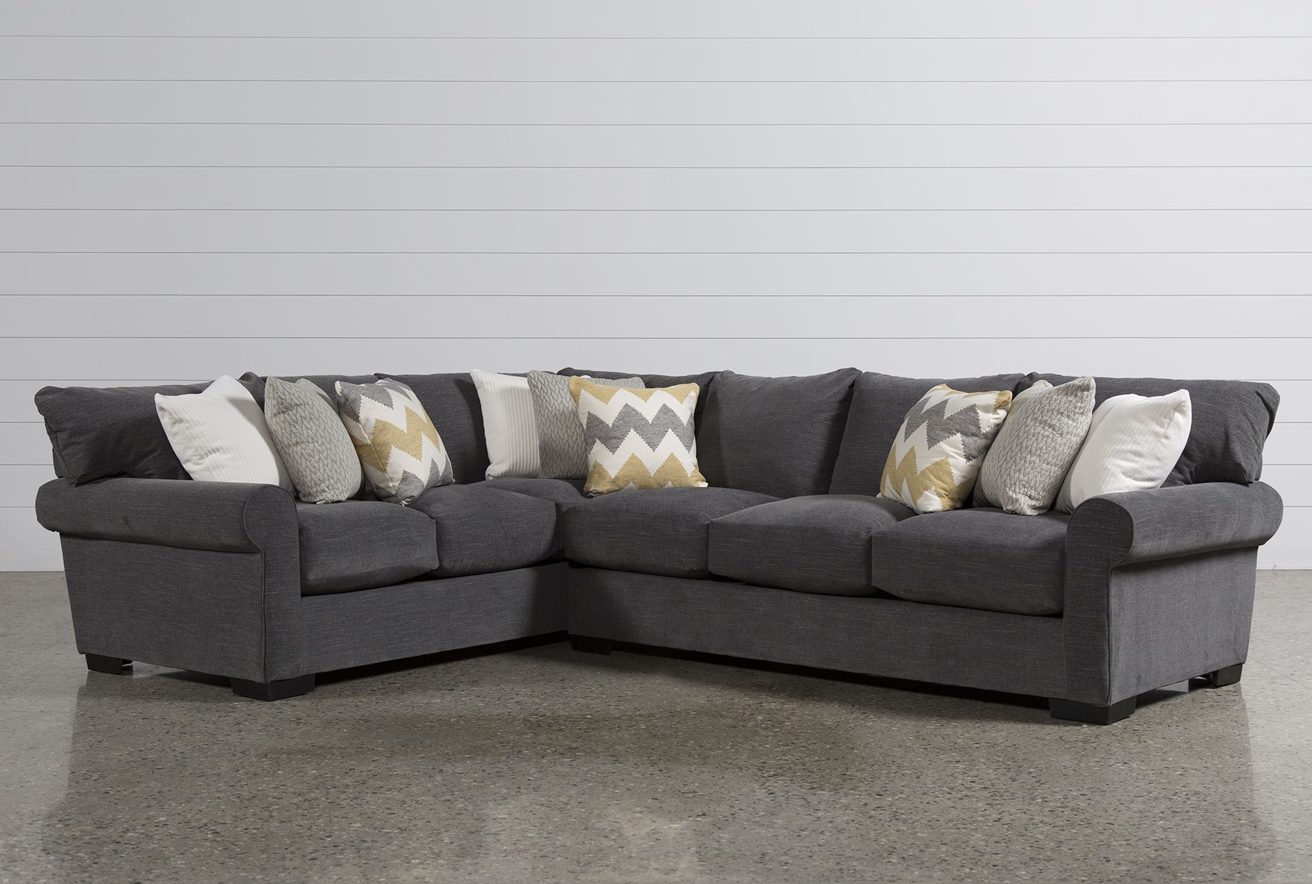 Aurora 2 Piece Sectional Living Spaces
