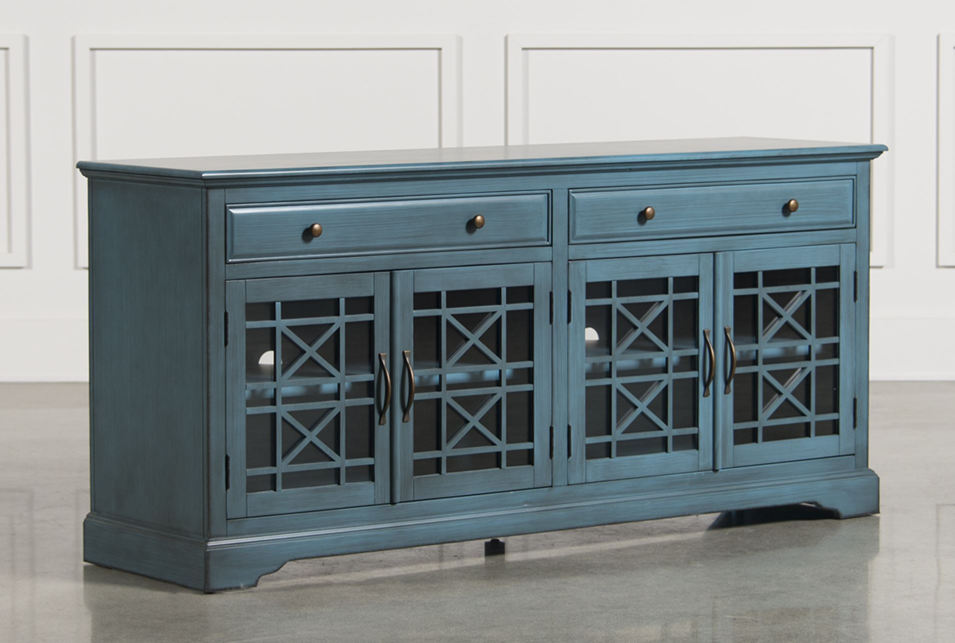 Annabelle Blue 70 Inch Tv Console Living Spaces