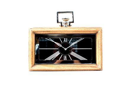 Fantastic Steel Wood Table Clock