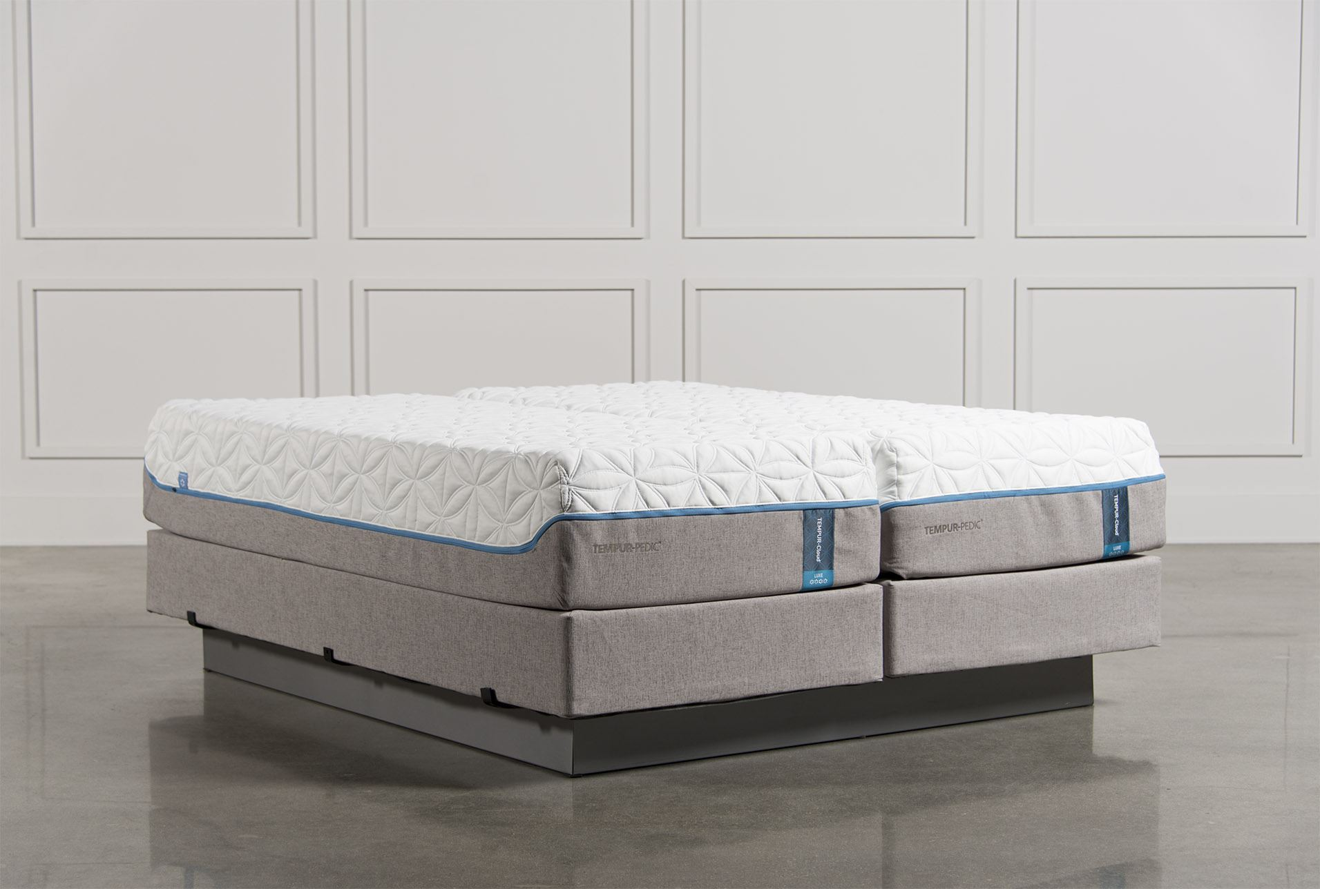 Cloud Luxe Eastern King Split Mattress Set W Foundation Living Spaces