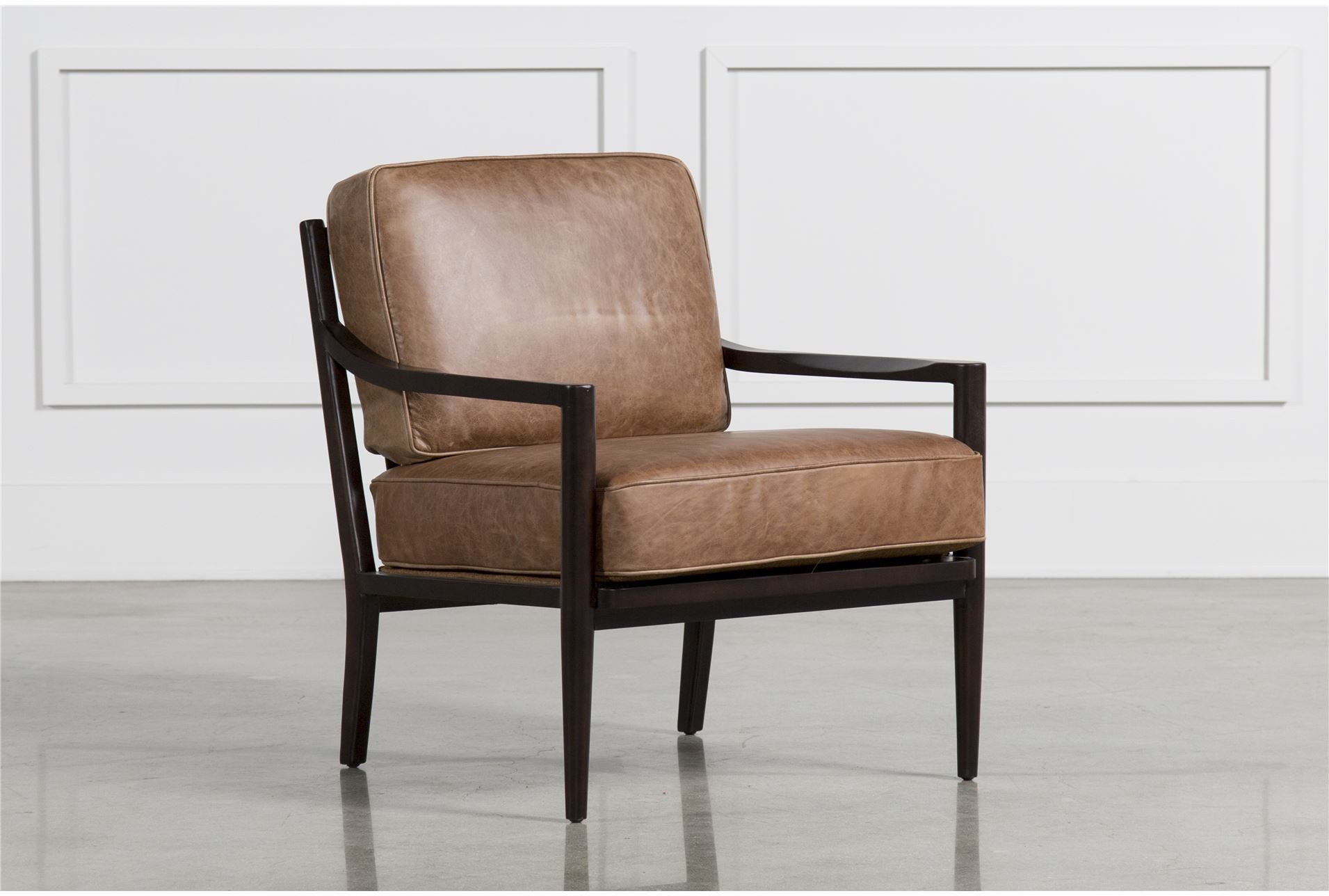 Living Spaces Accent Chairs : Dominic Saddle Accent Chair - Living Spaces