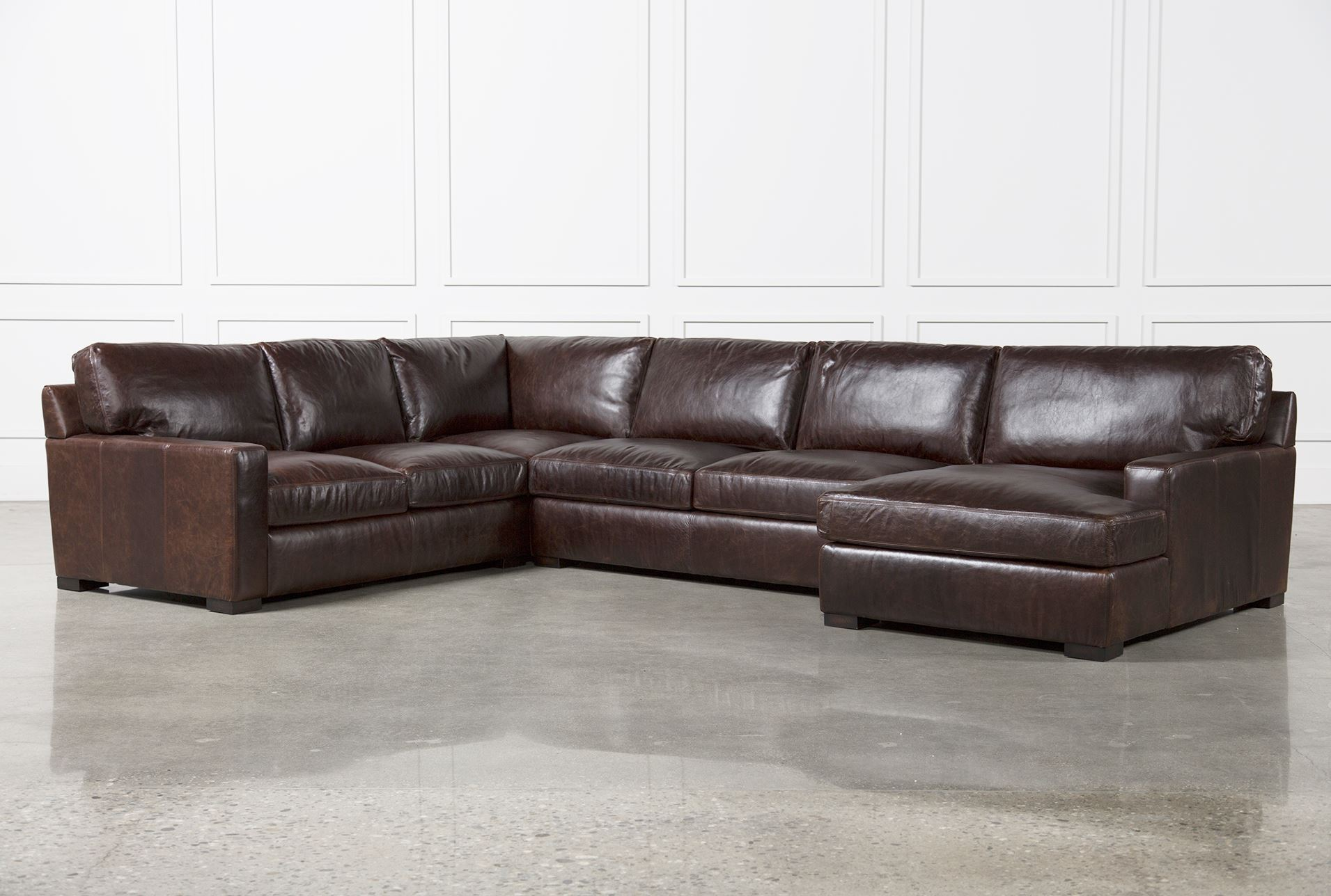Gordon 3 piece sectional w raf chaise living spaces for Living spaces sectionals