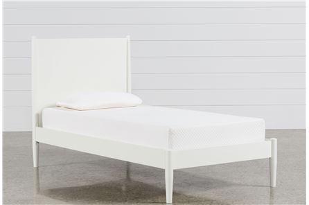 Alton White Twin Platform Bed - Main