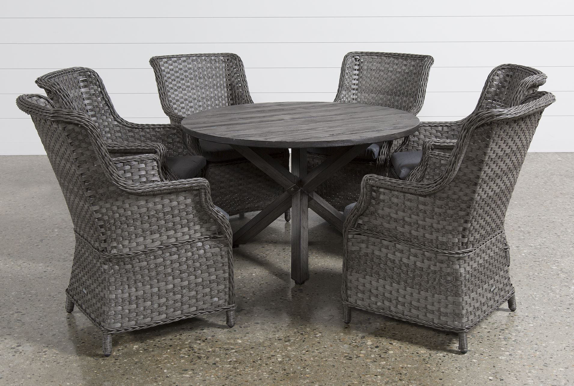 preloadtortuga 7 piece round dining set w san martin ii chairs back