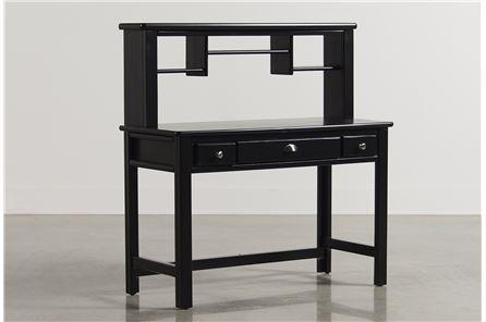 Summit Black Desk/Hutch - Main