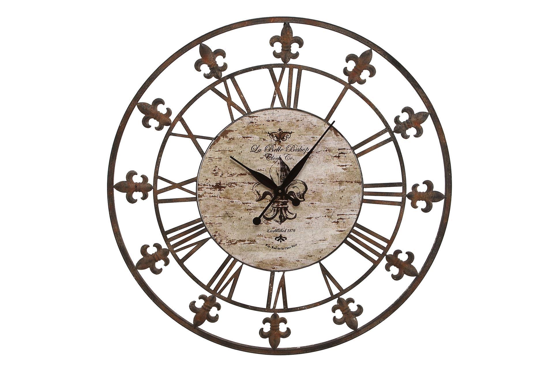 36 Inch Fleur De Lis Clock Living Spaces