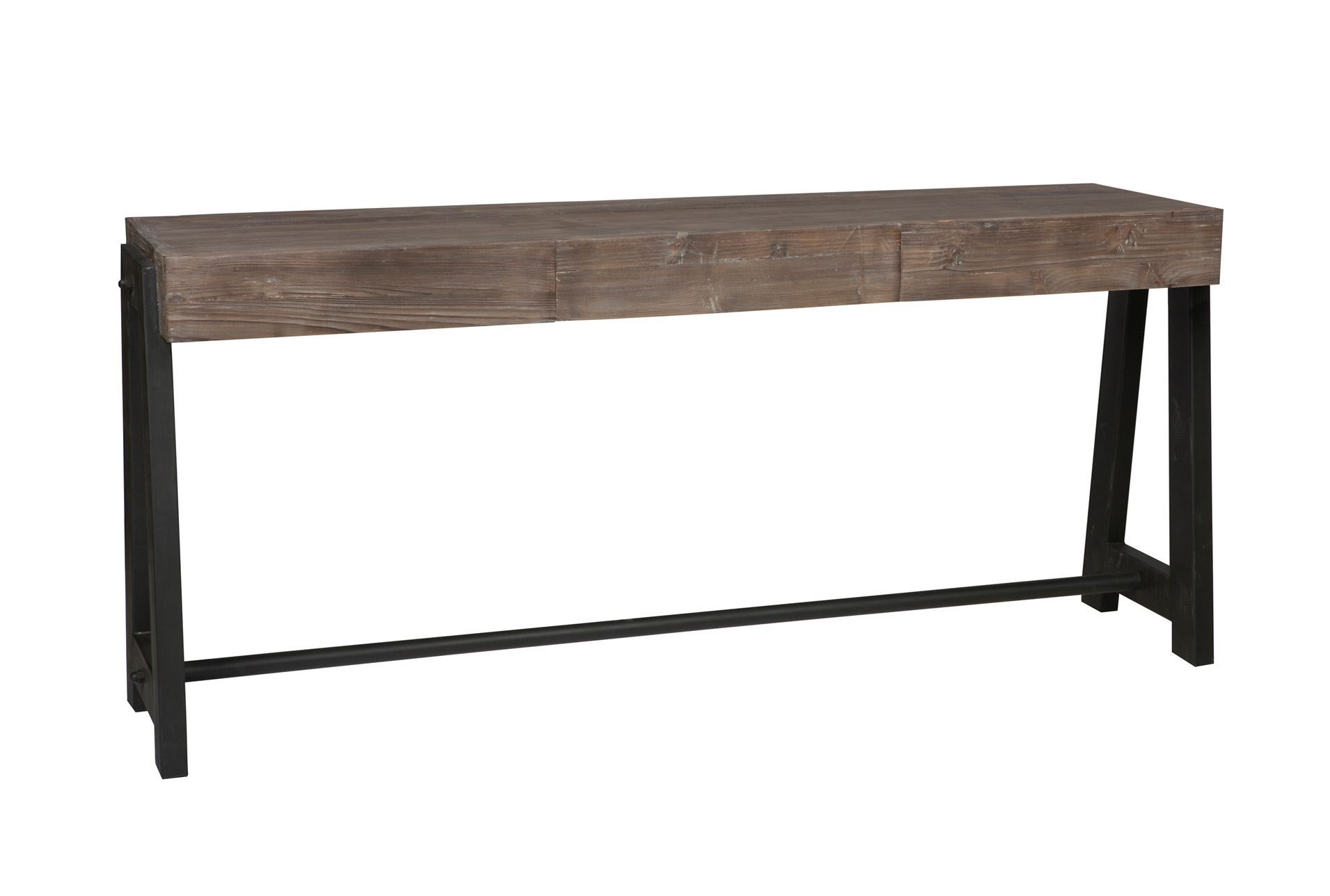 Otb marcellus mocha console table living spaces for Living spaces sofa table