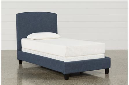 Scout Twin Upholstered Platform Bed - Main