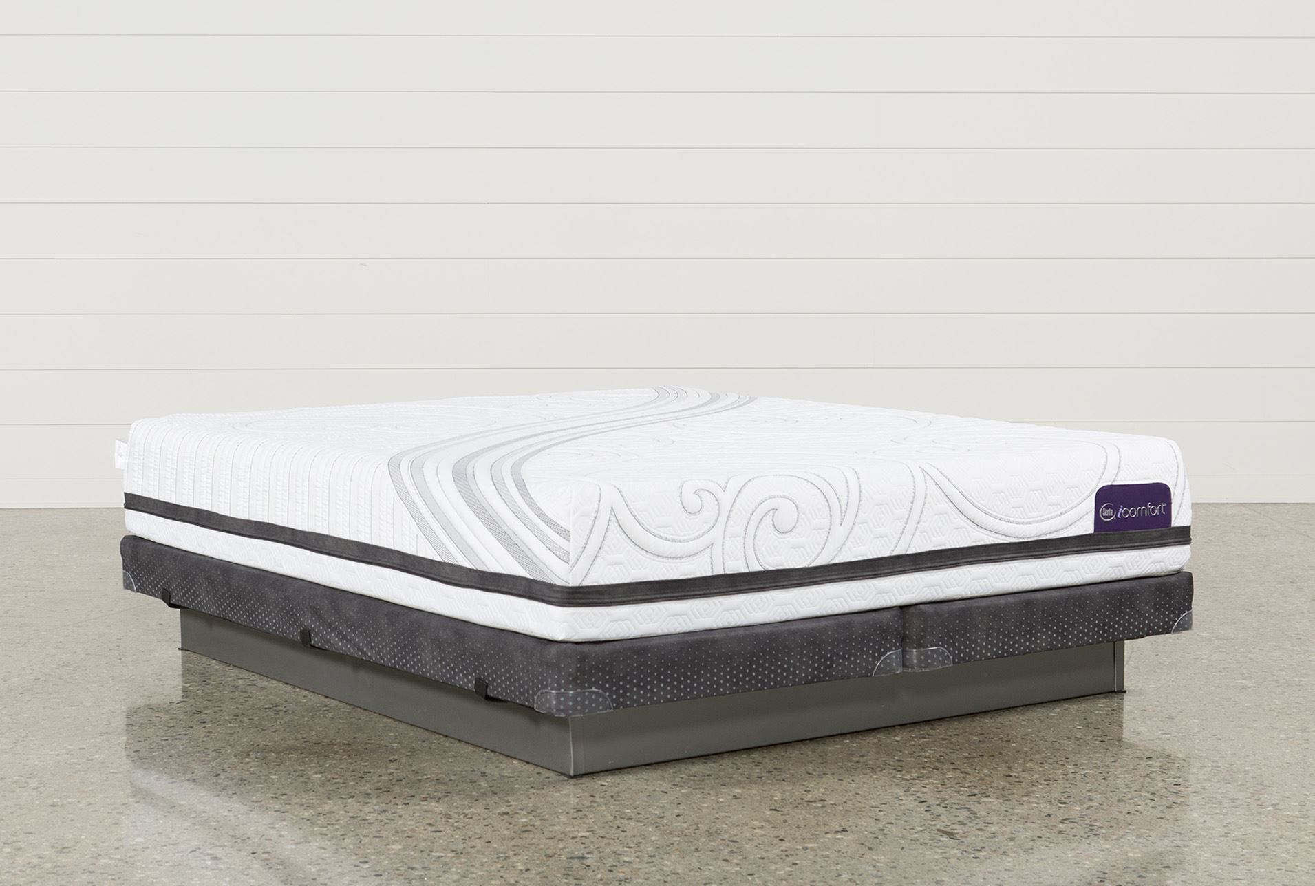 Savant Iii Plush Eastern King Mattress W Low Profile Foundation Living Spaces