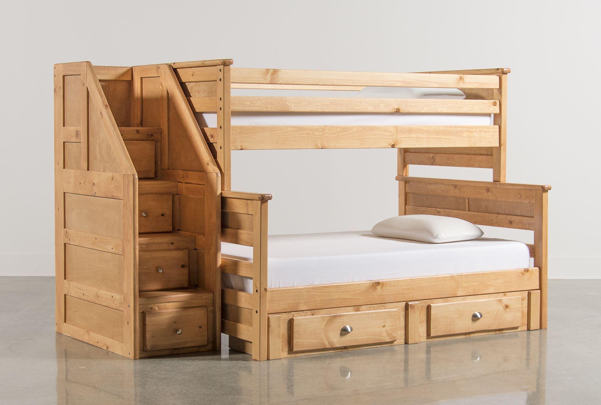 summit caramel bunk bed w 2 drawer underbed