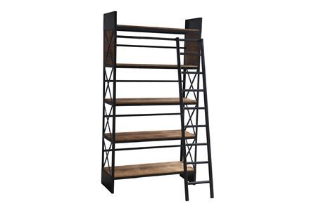 Otb Sanjit Wide Bookcase W/Ladder - Main
