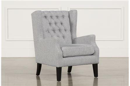 Peyton Silver Accent Chair - Main