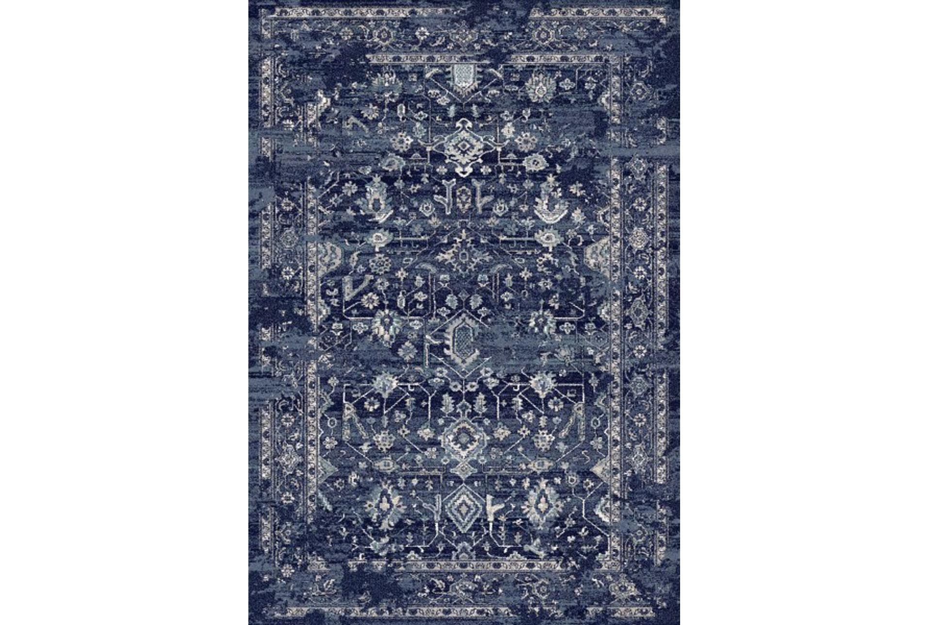 94x134 rug courtney indigo living spaces for Living spaces rugs