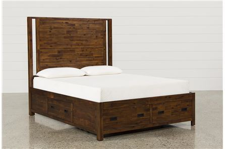 Charles Queen Panel Bed W/Storage - Main