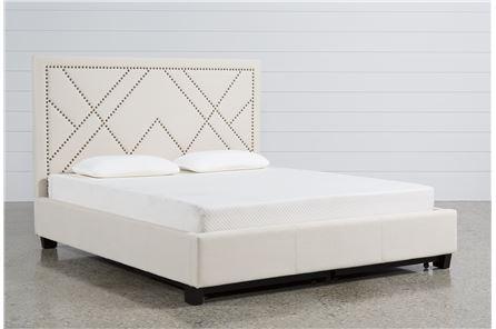 Alyson Eastern King Upholstered Platform Bed W/Storage - Main