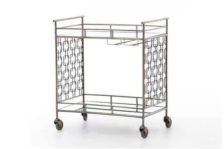 Otb Sofia Silver Bar Cart - Main