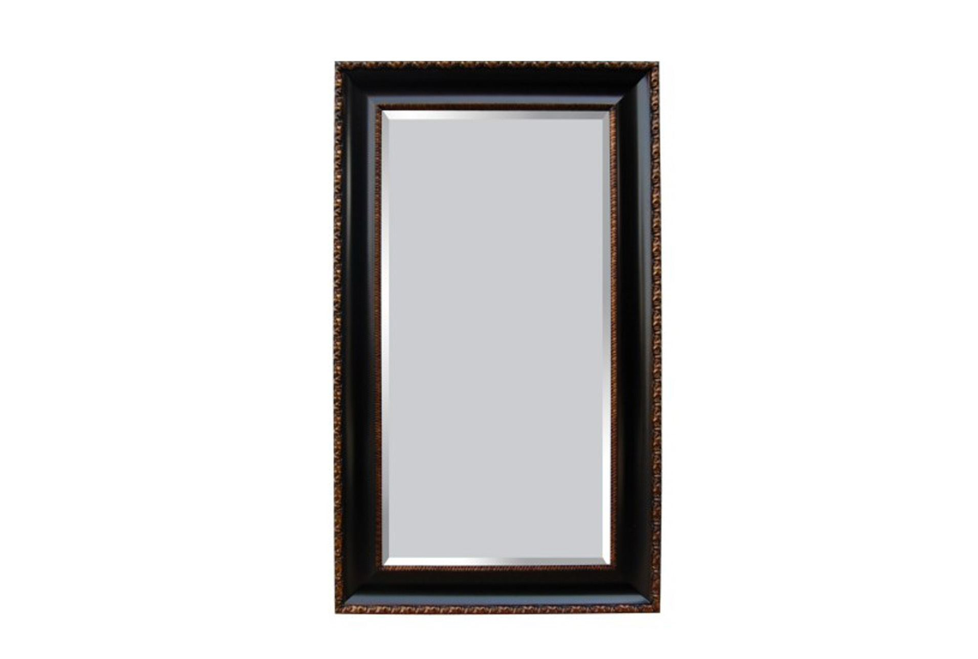 Leaner mirror black antique gold 45x75 living spaces for Types of mirror frames